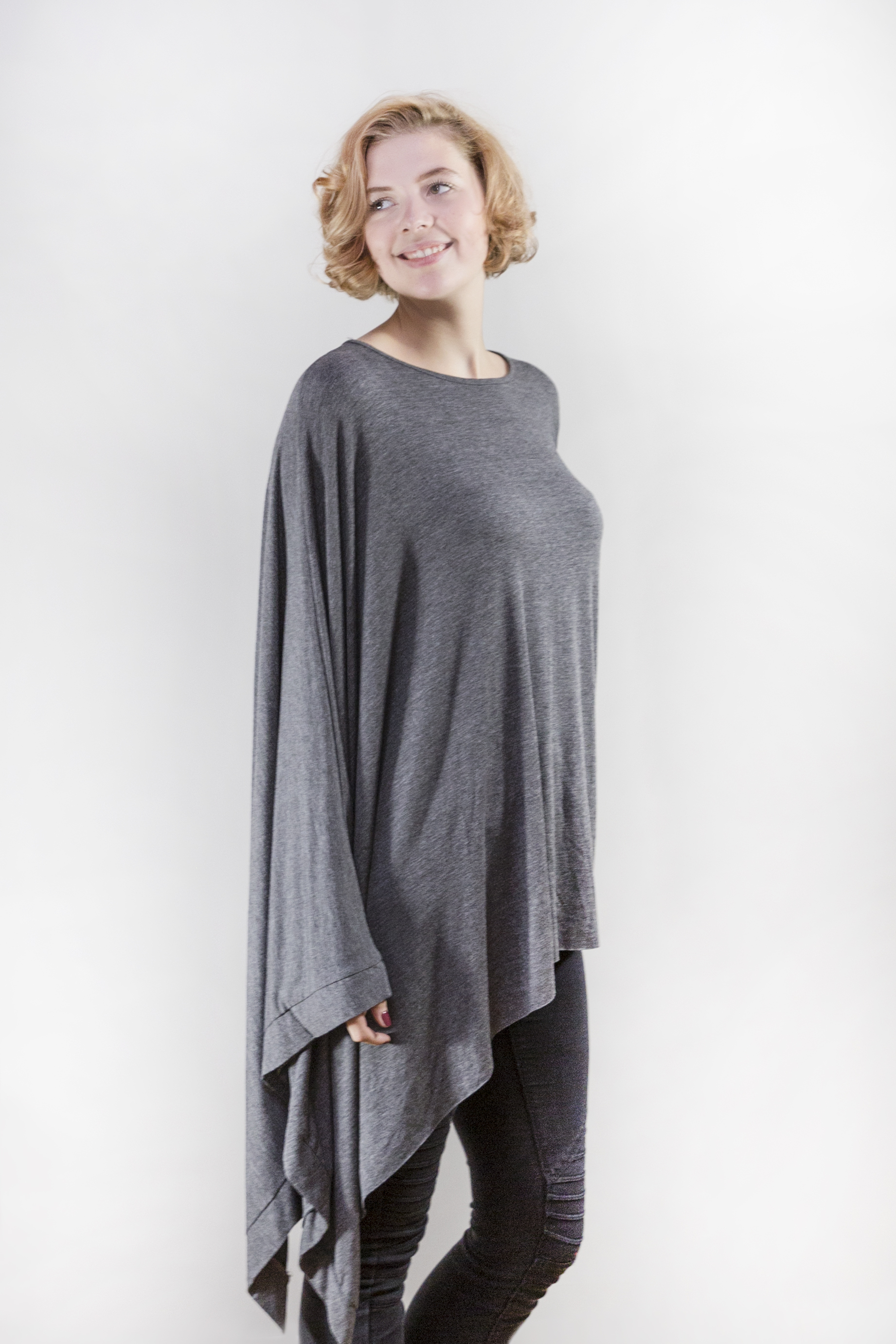 Suzy D Sleeved Poncho Top
